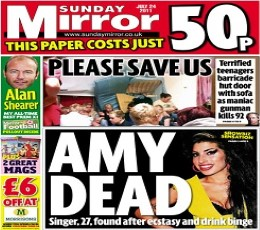 Sunday Mirror Newspaper