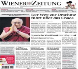 wiener zeitung epaper today 39 s wiener zeitung newspaper. Black Bedroom Furniture Sets. Home Design Ideas